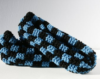 Phentex slippers to tiles, man and woman, black and cyan blue, ready to ship, ready to ship