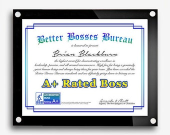 Gift for Boss, Best Boss Award, Boss's Day Gift, Bosses Day, Best Boss Gift, Funny Boss Gift, Best Boss Certificate, Bosses day, Boss Print