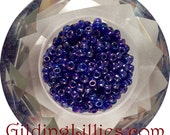 "6"" Toho 6/0 Round #87 Dark Sapphire Transparent Rainbow Beads"