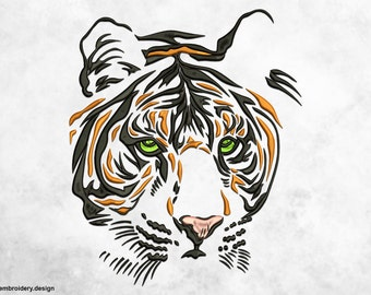 Sight of tiger embroidery design - downloadable