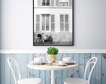 France, Paris, Paris photography, vintage, bike, vintage, Paris print, wall art print, Paris decor, fine art photography #057