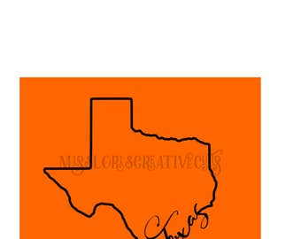 Texas  outline SVG Cut file  Cricut explore file Car decalscrapbook vinyl decal wood sign cricut cameo t shirt design cardstock