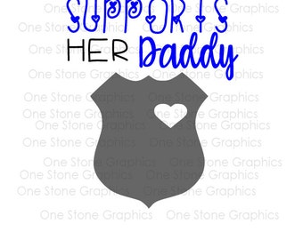 Police svg,support my dad svg,police,this girl supports her daddy svg,daddy,girl svg,back the blue svg,police badge svg,police officer svg