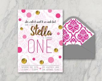 Baby first birthday invitations | Etsy