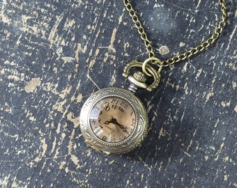 Mini Vintage Style Watch Necklace