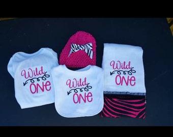 Wild One 4 pc Baby Set