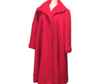 Warm Red Wool Coat