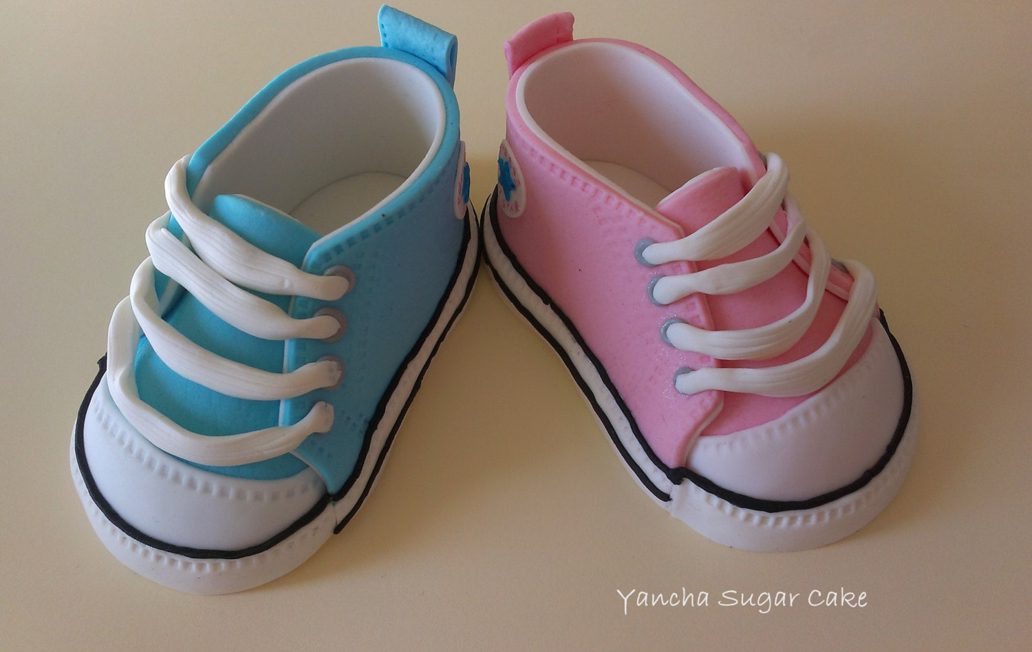 Fondant Edible pair of Baby shoes Converse Baby sneackers Cake
