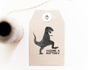 Dinosaur Stamp - Personalized Stamp, Customizable Gifts,  Gifts for Kids, Gifts for Geeks, Gifts for Paleontologists (Style 23)