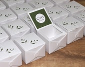 CUSTOM LISTING - Wedding Favor Box - 60 boxes - Budding Leaves Collection - Candy Box