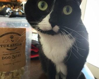 Freeze Dried Vegan Cat & Dog Peanut Butter Banana Tukabear Treats FREE SHIPPING (US)