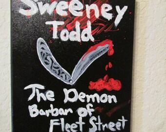 Sweeney Todd the Demon Barber of Fleet Street Movie Painting