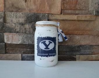 BYU Decorative Quart Size Mason Jar