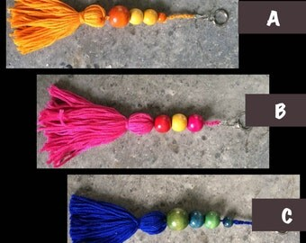 Tassel Key Chain- Colorful Pallet