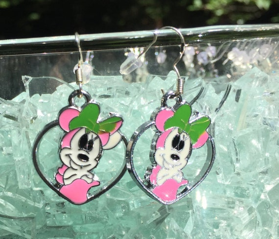 Minnie Mouse Antique Silver Earrings