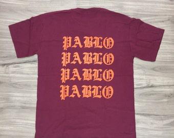 i feel like pablo shirt -the life of pablo-pablo shirt-yeezus-saint pablo-kanye west (Orange-Print)