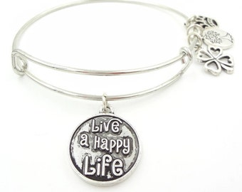 Live A Happy Life Bracelet