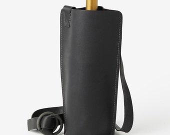 Leather BYOB Wine Bag - Wine Carrier