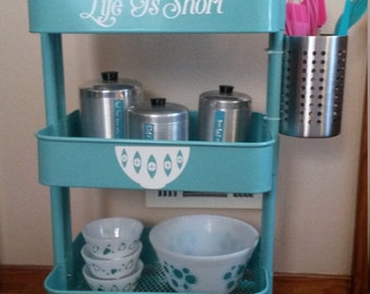 Kitchen cart decal - Life is Short
