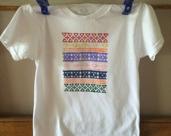 T-shirt, bright design, really cheery and fun, Fruit of Loom Youth Small