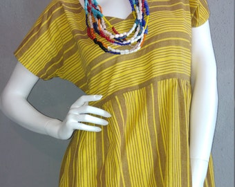 khadi dress yellow