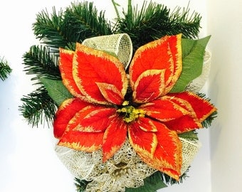 Red, Green and Gold Holiday Wreath