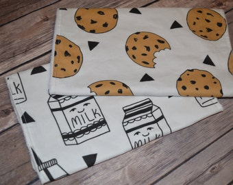 Cookies & Milk - Burp Cloths, Set of 2, Gender Neutral
