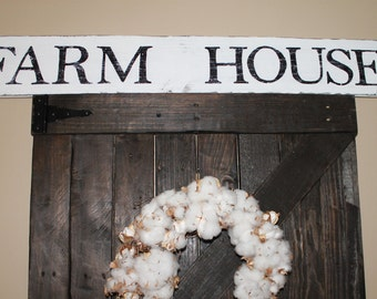 FARM HOUSE sign, 40 inches long, fixer upper style, reclaimed wood