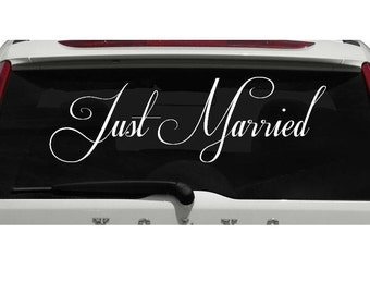 Just Married decal | Married | Marriage