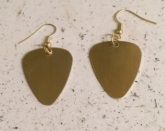 Customizable Guitar Pick Earrings