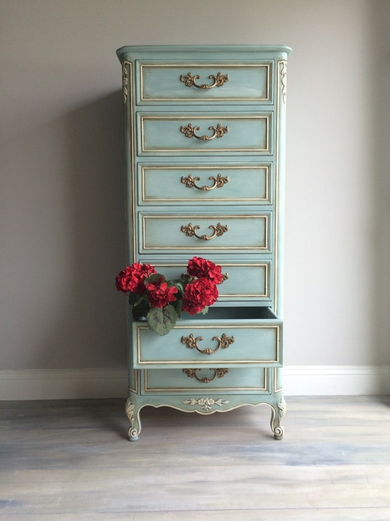 Reloved vintage french provincial lingerie chest - Painted french provincial bedroom furniture ...
