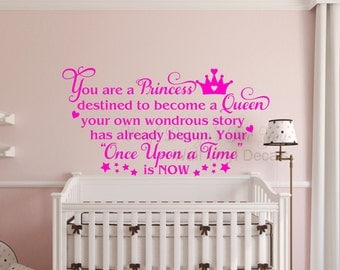 Princess Wall Decal Girls Wall Decor Girls Wall Art Princess Wall Decor
