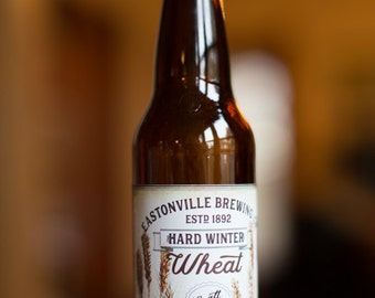 Customized Beer Label - Wheat Beer, Raspberry Wheat, Honey Wheat - Vintage Design Custom Homebrew Label for home made Craft Beer