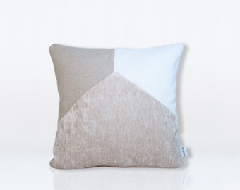 cushion calvi white & beige 40x40cm