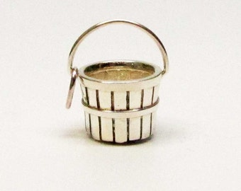 Orchard Basket Charm | Brown County Baskets | Brown County Silver  | Sterling Silver Pendant | Silver Jewelry Charms