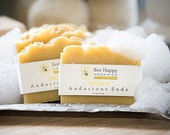 SOAP~Audacious Suds~Organic Soap~Cold Process Soap~Handmade Soap~Gift