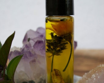 BEAUTIFUL FORM Organic Flower, Gem, Crystal Essence Perfume for Self Love & Inner Peace