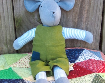 Mouse in Green Overalls