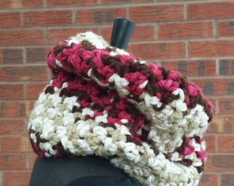 Chunky scarf, gift for her, winter scarf, chunky crochet, infinity scarf, birthday gift, cowl scarf, bulky scarf, chunky yarn, cozy scarf