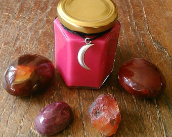 Blood Moon Soy Spell Candle - 8 oz. - Dragon's Blood - Energy, Focus, Motivation