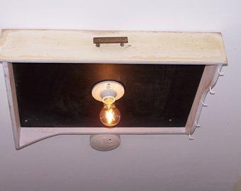 Funky Wall lamp from a drawer in the Usedlook, handcrafted in Germany, Edisonlampe, Dekoobjekt, unique