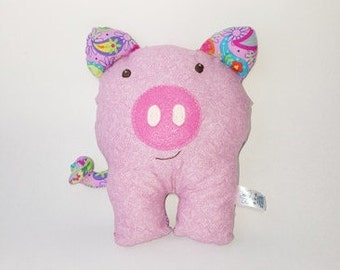 Piggy plushie / - softie - baby toy - piggy cloth