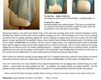 The Angla Wrap ~ a pdf pattern for Merino Lace, Shetland Cobweb or Supreme
