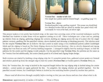 The Angla Wrap ~ a pdf pattern for Merino Lace, Shetland Cobweb or Supreme