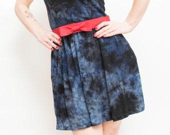 Indigo Tie Dye Dress