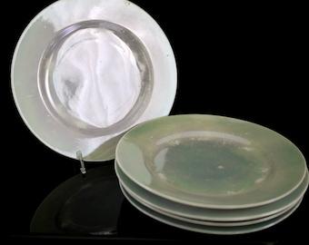 Vintage Iridescent Lusterware Takito TT Japan Luncheon Salad Plate