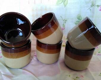 Vintage bruin keramische aardewerk