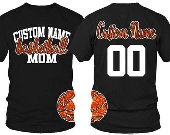 Custom Basketball Mom T-shirt