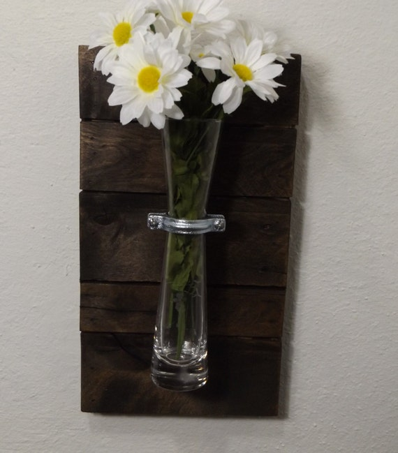 Wall Sconces With Vases : Vase Sconce. Wood Wall Sconce. Rustic Vase by OurWoodsCreations