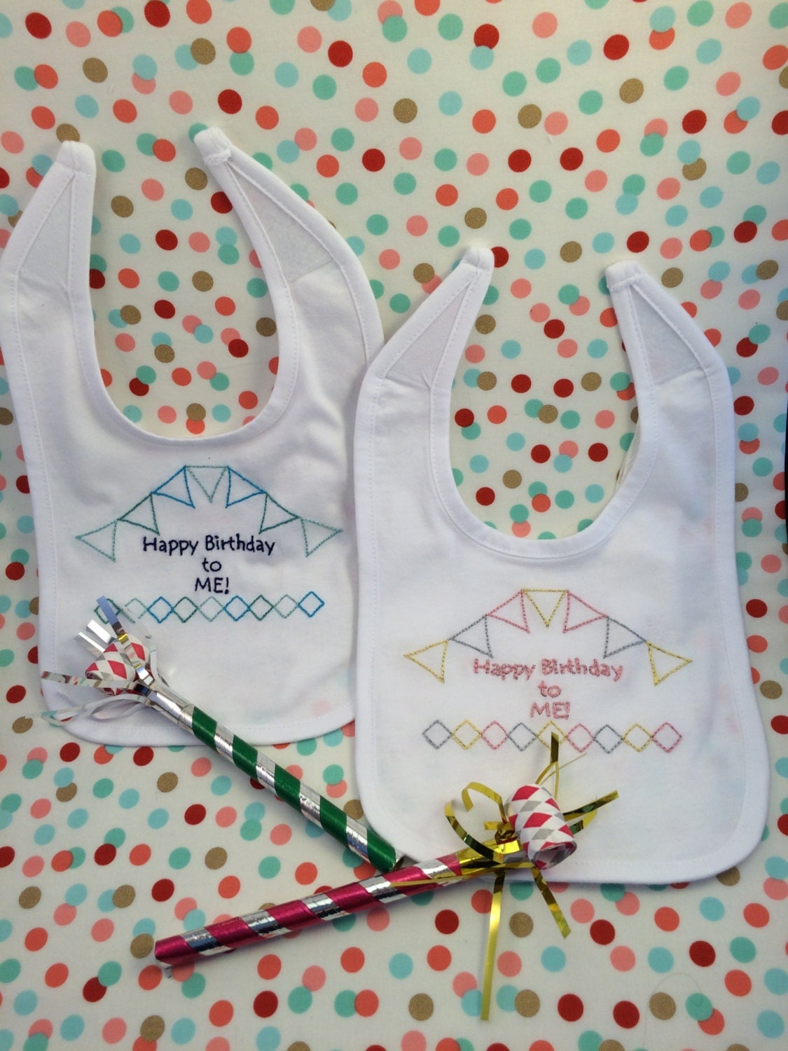 Baby bib embroidery kit diy shower gift
